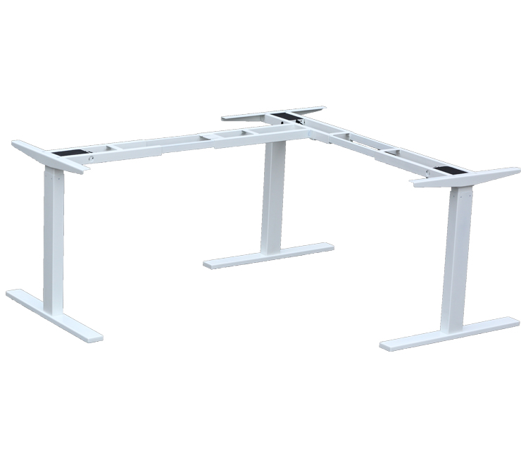 Tremendous Three Legs Electric Height Adjustable Desk L Shaped Desk Download Free Architecture Designs Embacsunscenecom